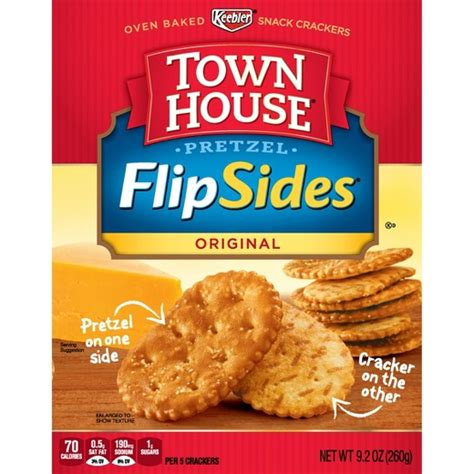 town house crackers keebler town house flipsides original pretzel crackers 14oz target