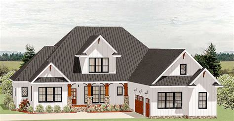 country craftsman house plan with optional second floor