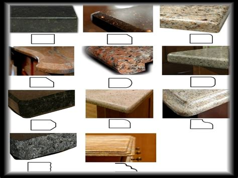Granite Countertop Types by Kitchen Countertop Installation Granite Countertop Edge