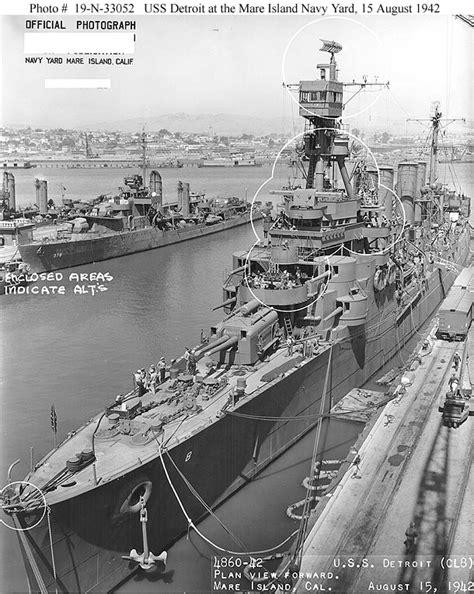 boat salvage yard atlanta usn ships uss detroit cl 8