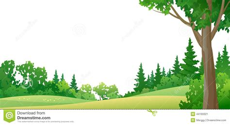 border design for environment forest border stock vector image of foliage green