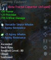 gw2 ascended gear and infusion recipes dulfy
