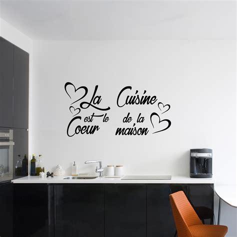 citation sur la cuisine sticker citation la cuisine est le coeur de la maison
