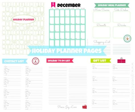 free printable holiday planner 2014 christmas planner free printables round up