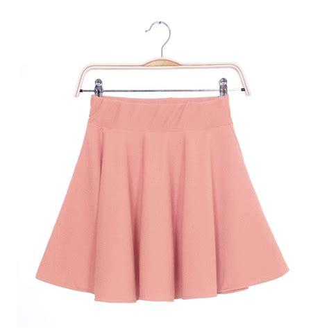 Plain Pleated Mini Skirt color stretch waist plain skater flared pleated mini