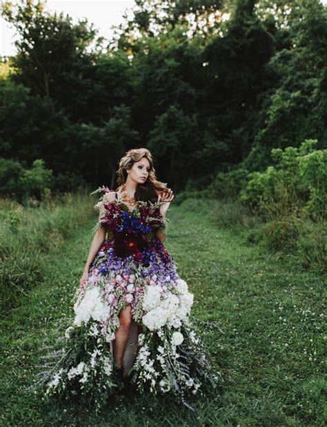 Flower Dress Wedding by A Dress Made Of Flowers Green Wedding Shoes Weddings