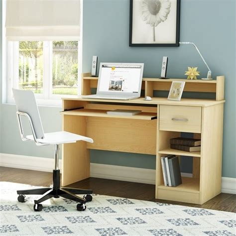 maple computer desk south shore axess cont style maple computer desk
