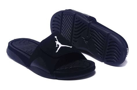 jordan house shoes 2016 air jordan hydro 4 all black slippers for sale