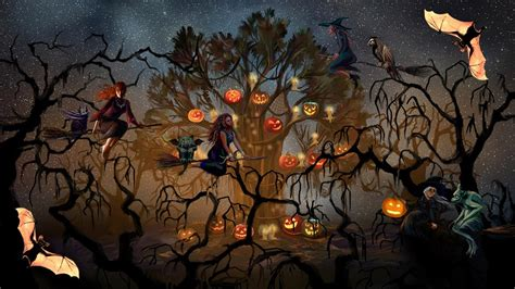 imagenes halloween movimiento 3d happy witches christmas android apps on google play