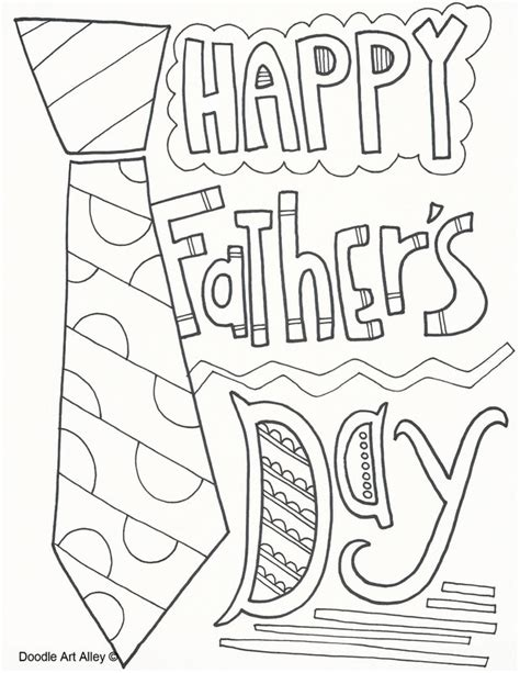 fathers day coloring sheets coloring pages doodle alley