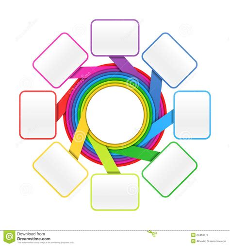 eight design elements eight elements circle design template stock vector image