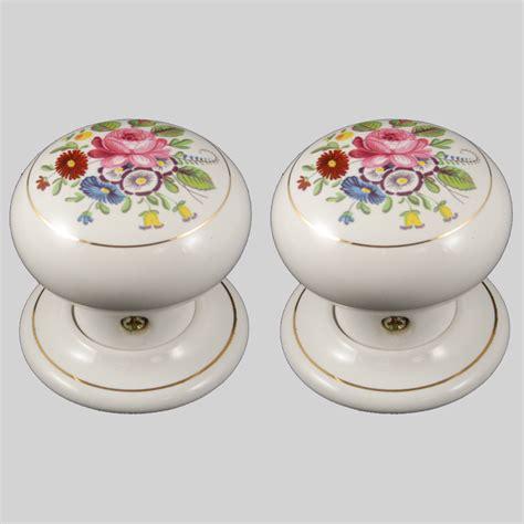 porcelain door knobs floral chintz pair the ceramic store