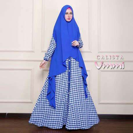 Calista Syar I calista blue baju muslim gamis modern