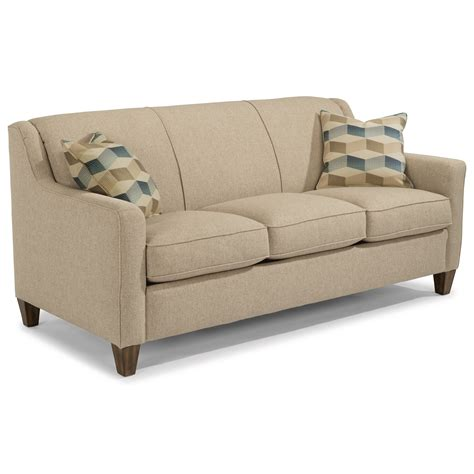 Flexsteel Sleeper Sofa Flexsteel Contemporary Sleeper Sofa With Angled Track Arms Olinde S Furniture