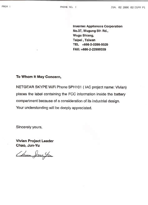 Justification Letter For Emergency Purchase 06200054 skype wifi phone cover letter netgear incorporated