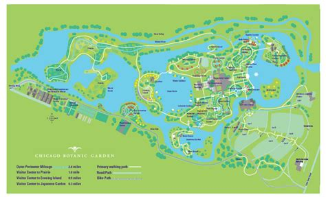 chicago botanic garden map chicago botanic garden map chicago il mappery
