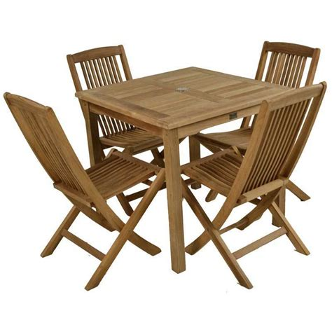 4 seater table and chairs teak 4 seater garden table and chair set homegenies