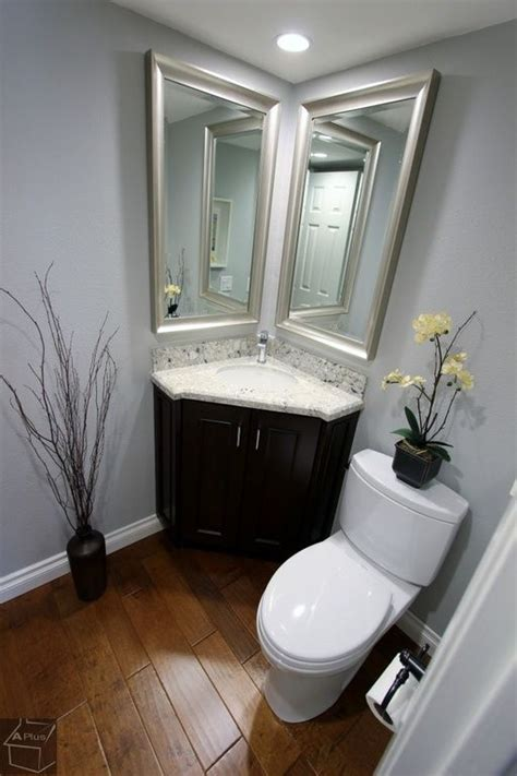 corner bathroom sink ideas perfect for powder room traditional powder room with