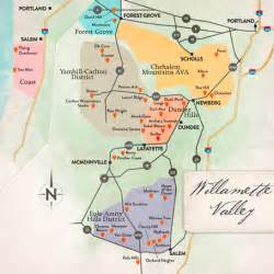 oregon wine tasting map winery dogs of napa valley sonoma oregon central