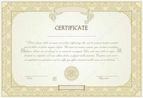 templates certificate editable blank certificate templates certificate234