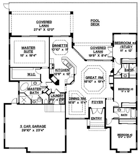 2400 sq ft house plans mediterranean style house plan 4 beds 3 baths 2400 sq ft