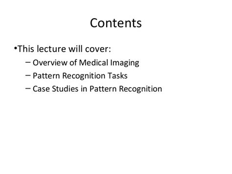 pattern recognition healthcare pattern recognition in medical images