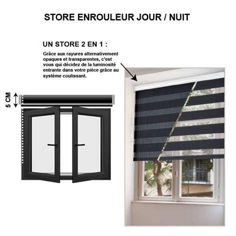 Store Jour Et Nuit Blanc by Store Enrouleur 60 X H90 Cm Jour Nuit Blanc Store