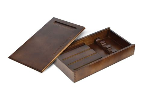 kramer by zwilling wood steak knife storage box 4 slot cutlery and more