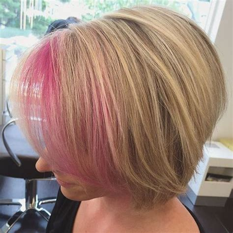 dirty blonde bob hairstyle with peek a boo highlights 20 pretty ideas of peek a boo highlights for any hair color