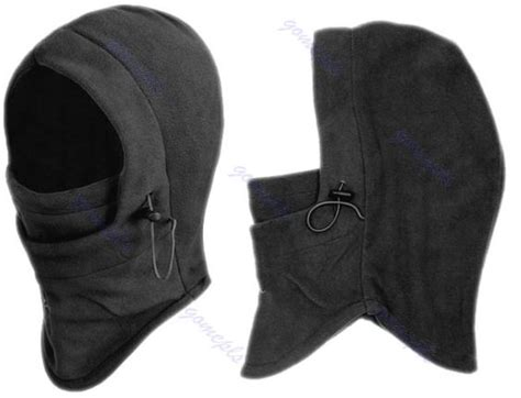 Promo Murah 4 In 1 Thermal Fleece Balaclava Masker Kupluk 1pc 6 in 1 thermal fleece balaclava swat ski