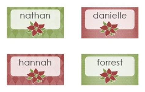 printable name tags for christmas dinner christmas dinner place cards