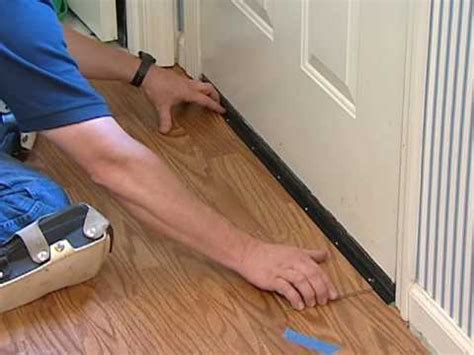 Laminate Flooring Installation   Undercutting Door Frames