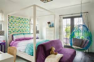 blue and purple bedroom with anthropologie knotted