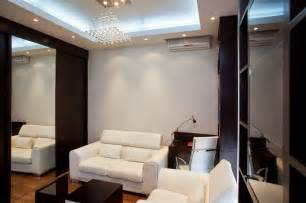 Simple false ceiling design for living room of gypsum board