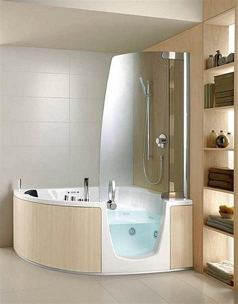 bathroom ideas for small spaces shower corner whirlpool tub the solution for small