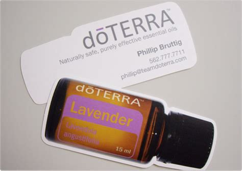 Free Doterra Business Cards Template by Doterra