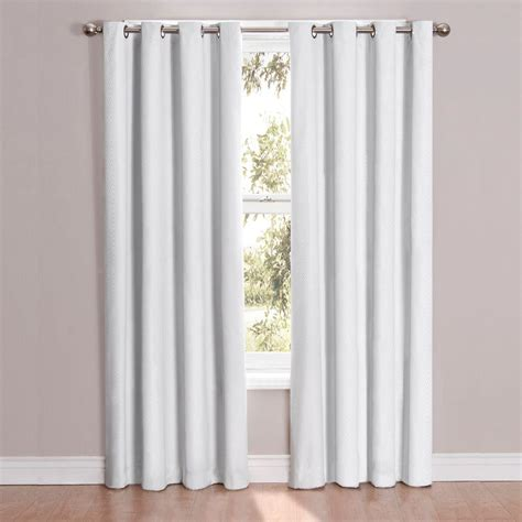 84 blackout curtains eclipse cassidy blackout white polyester grommet curtain