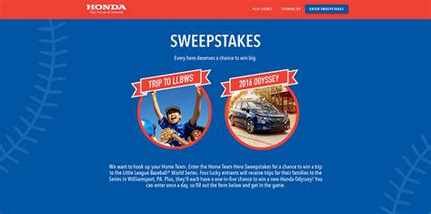 New Sweepstakes - honda rewards home team heroes with a new sweepstakes
