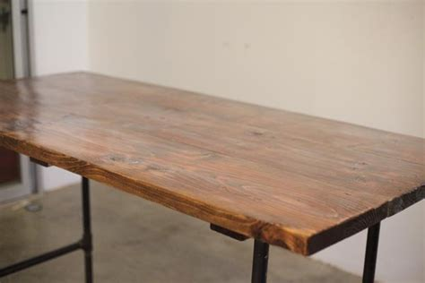 rustic furniture tutorial workbench plans diy pipe leg