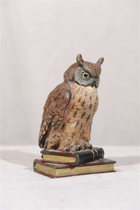 Owl Furniture by Finely Cast Cold Painted Vienna Bronze Owl At 1stdibs