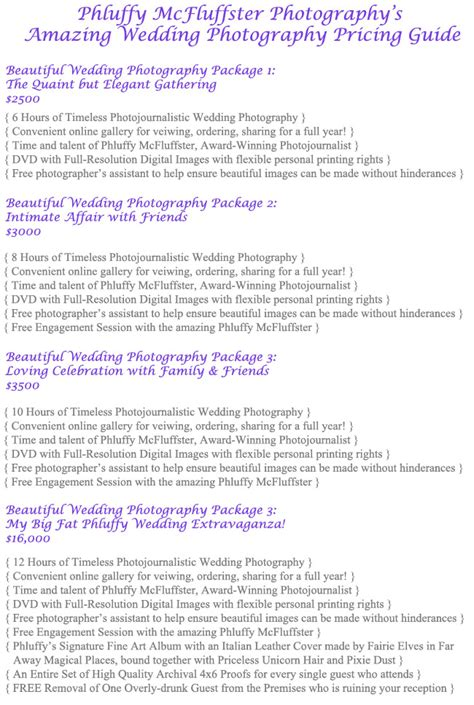 Wedding Photography Prices Packages by How To Create Photography Packages That Sell The Modern Tog