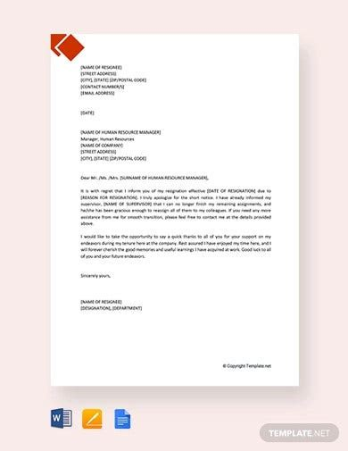 regret letter templates google docs word pages