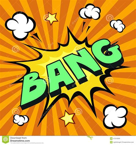 bang cartoon comic explosion stock vector image 47019269