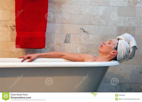 Bathtub Claw Feet Woman In Old Fashion Clawfoot Tub Stock Photo Image 2056490