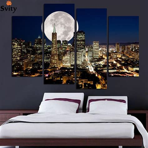home decor art prints aliexpress com buy fashion hd large canvas painting 4