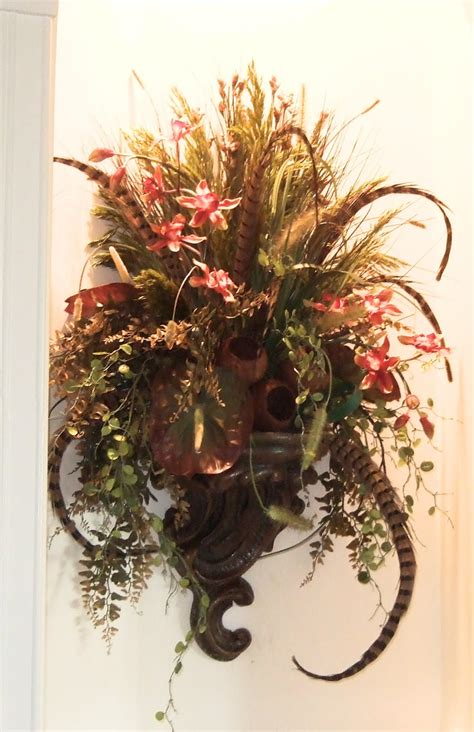 Wall Sconce Floral Arrangements silk flowers images wall sconces silk flowers arrangements
