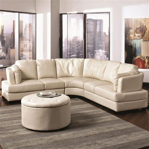 home center leather sofa 15 collection of curved sectional sofa ideas