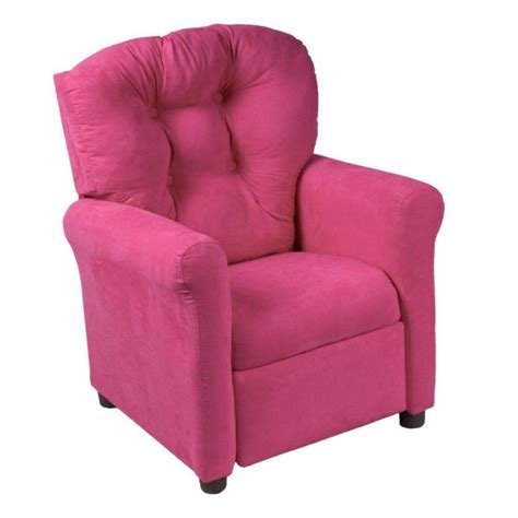 pink recliner chair ace casual furniture racy pink microfiber traditional
