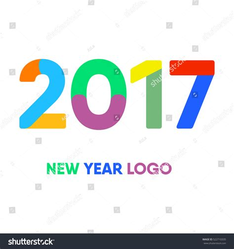 new year logo 2017 vector letter logo new year logo 522710335