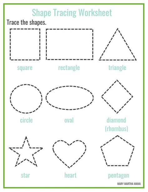 free printable shapes with names shapes worksheets for preschool free printables mary